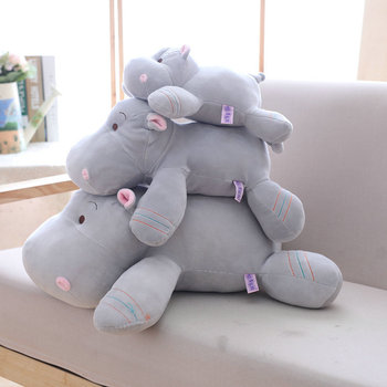 kawaii cute plush backpack metoo doll soft cartoon animal stuffed toy for girl kid children school shoulder bag for kindergarten Kawaii Hippo Plush Dolls Stuffed Soft Down Cotton Animal Pillow Cute Toy Birthday Christmas Gift for Children Kid M026