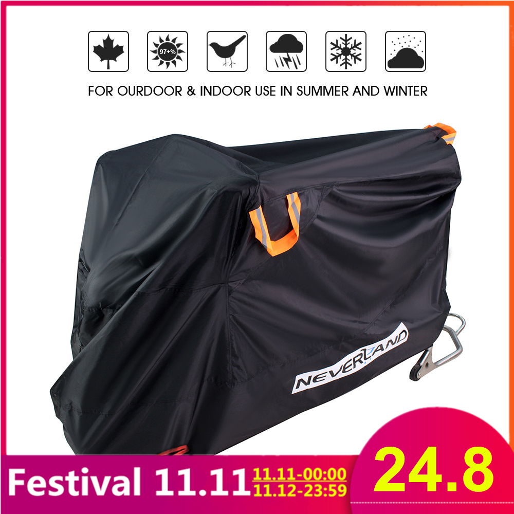 Waterproof Dust Proof UV Sun Rain Snow Indoor Outdoor Full Motorcycle Cover Anti Protective Motors Scooter Bike Covers Coats D30