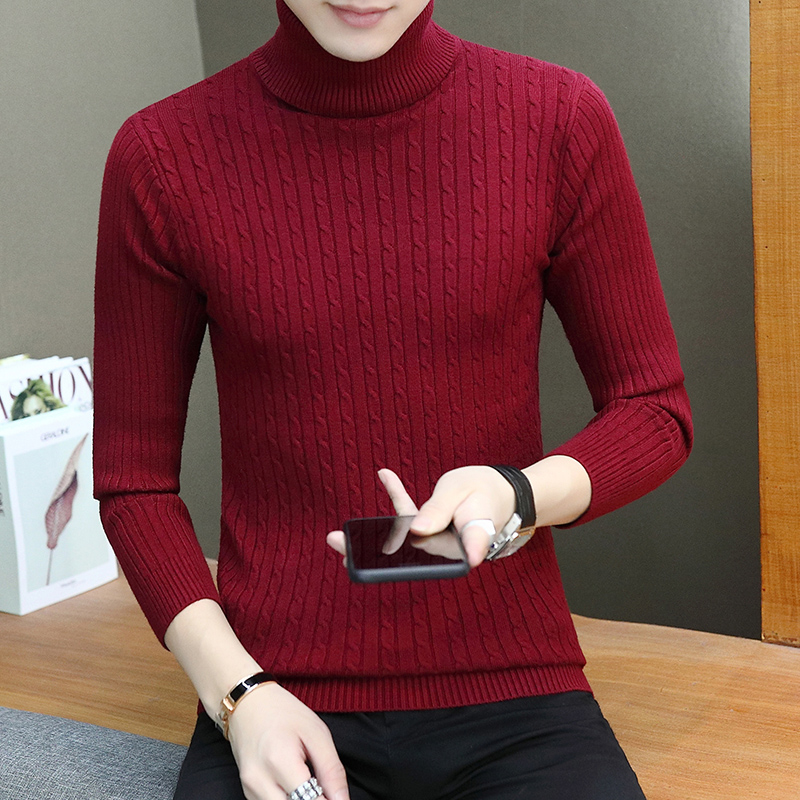 Men's Clothing ... Sweaters ... 32794684806 ... 3 ... (7 colors) high quality men's pullover 2019 new fashion round neck striped winter sweater men's brand pullover casual sweaters ...