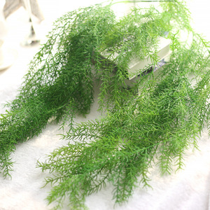 Image 2 - 105cm Artificial Plant Real Touch Pine Needle Fake Plant for Home Garden Wall Decoration Hanging Plant Artificial Vine