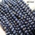 Meihan Бесплатная доставка (62 бусины/набор) натуральный синий сапфир 6-6,5 мм граненые круглые бусины россыпью для изготовления ювелирных издели...