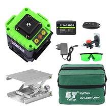 KaiTian Laser Level 12 Lines 3D Self-Leveling 360 Horizontal And Vertical Cross Magnet Bracket Green Laser Beam Line Lazer Level