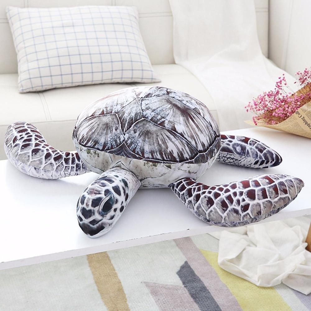 Hot 1pc 20cm Lovely Ocean Sea Turtle Plush Toys Soft Tortoise Stuffed Animal Dolls Pillow Cushion Gifts For Kids