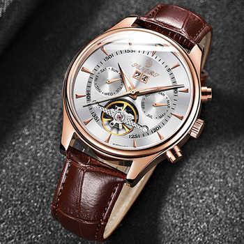 Reloj Automático Senors de lujo para hombre, reloj negro automático, reloj de pulsera mecánico automático resistente al agua para hombre