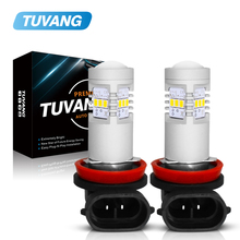 цена на 2Pcs H8 H11 Led HB4 9006 HB3 9005 Fog Lights Bulb 3020SMD 1200LM 6000K White Car Driving Running Lamp Auto Leds Light 12V 24V