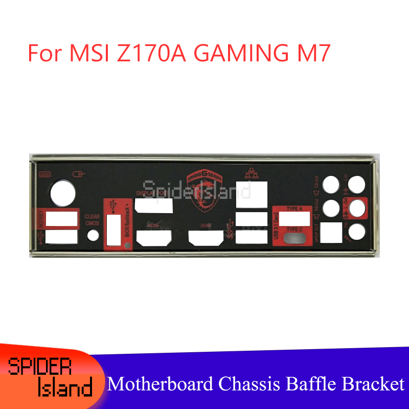New I/O Shield Back Plate Chassis Bracket Of Motherboard For MSI Z170A GAMING M7 New Baffle IO Guide Bezel Backplane
