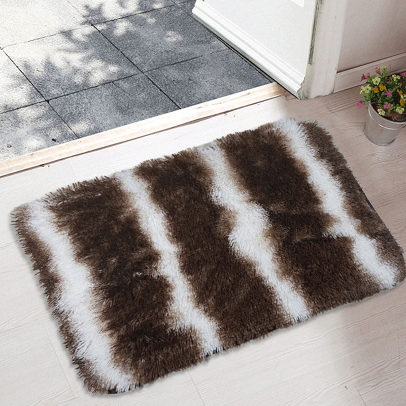 Solid Color Rugs Carpet Thicken Long Plush Hair Bathroom Non-Slip Mat Area Rug For Living Room Soft For Child Bedroom Mat