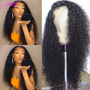 8-30inch Lace Front Human Hair Wigs 13*4 Brazilian Kinky Curly Human Hair Wig deep Curly Lace Closure Wig cheveux brésiliens
