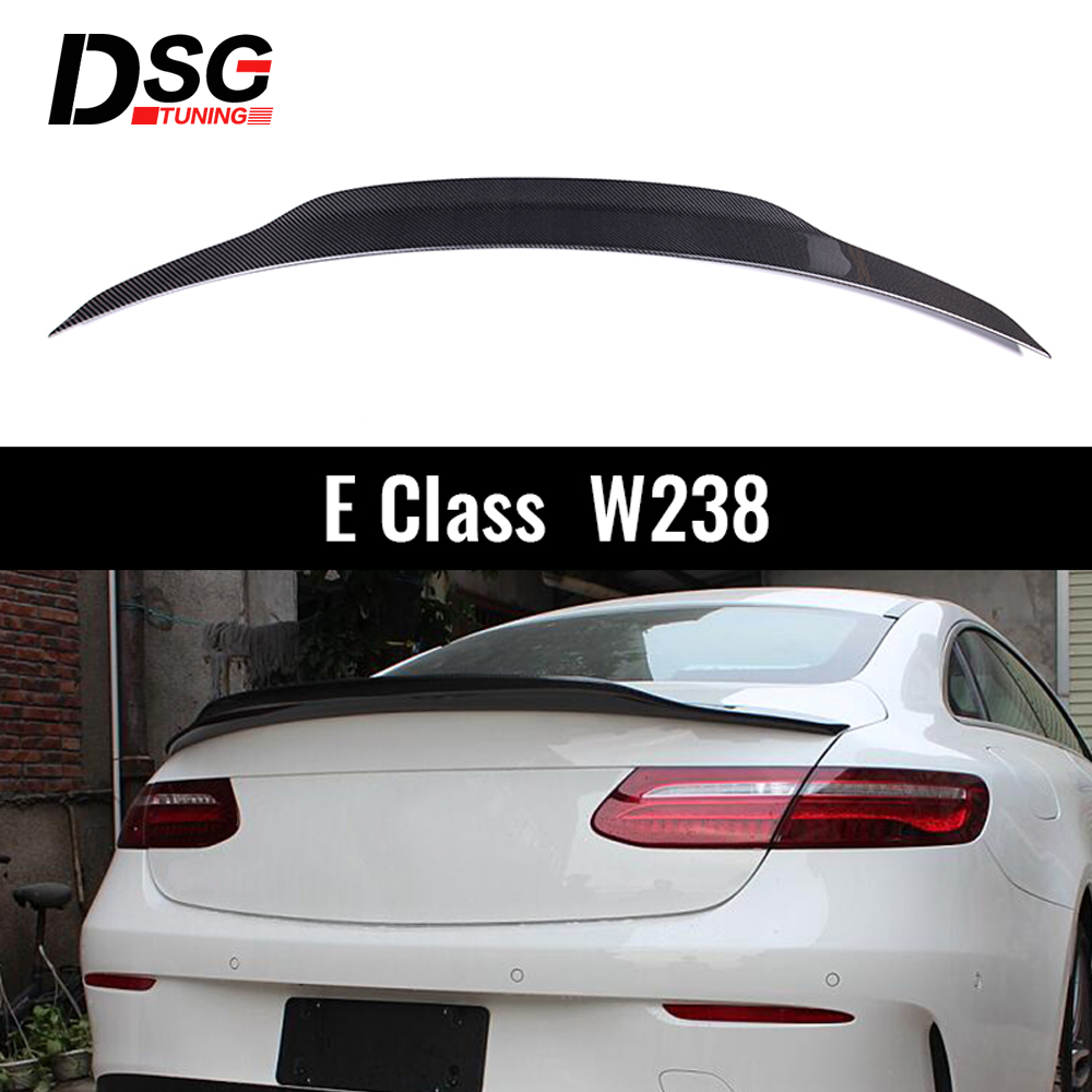 For E Class W238 <font><b>C238</b></font> E Class Carbon Fiber Auto Car Rear Trunk <font><b>Spoiler</b></font> Wing 2017-2019 image