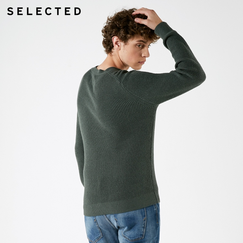 Image 4 - SELECTED Mens Winter Cashmere blend Pullover Clothes Round 