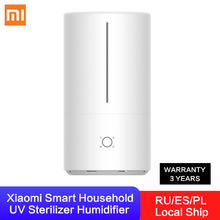 Xiaomi Smart Household UV Sterilizer Humidifier 4.5L Large Capacity Water Tank UV C Instant Sterilization Support APP Control
