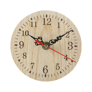 Vintage Rustic Wooden Wall Clock Silent Wall Clock Wooden Handmade Antique Shabby Retro Home Kitchen Room Decor JJ30(China)