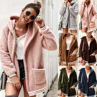 2019 chegada do inverno feminino algodão fofo manga longa jaqueta senhoras quente outerwear casaco cardigan