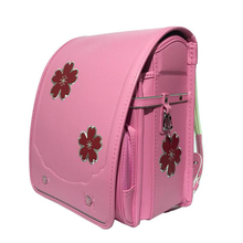 School Backpack for kid Orthopedic backpack book bag Children PU Japanese School bag girls school Flower embroidery backpack Bag
