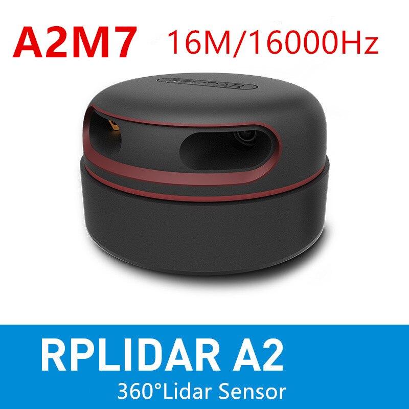 RPLIDAR A2M7 2D 360 درجة 16 م 16 ك هرتز ليدار الاستشعار الماسح الضوئي لتجنب عقبة الملاحة والتفاعل الشاشة التي تعمل باللمس