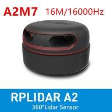 Лидар RPLIDAR A2M7 2D, 360 градусов, 16M, 16K Гц, сканер датчиков для обхода препятствий, навигации и сенсорного взаимодействия экрана