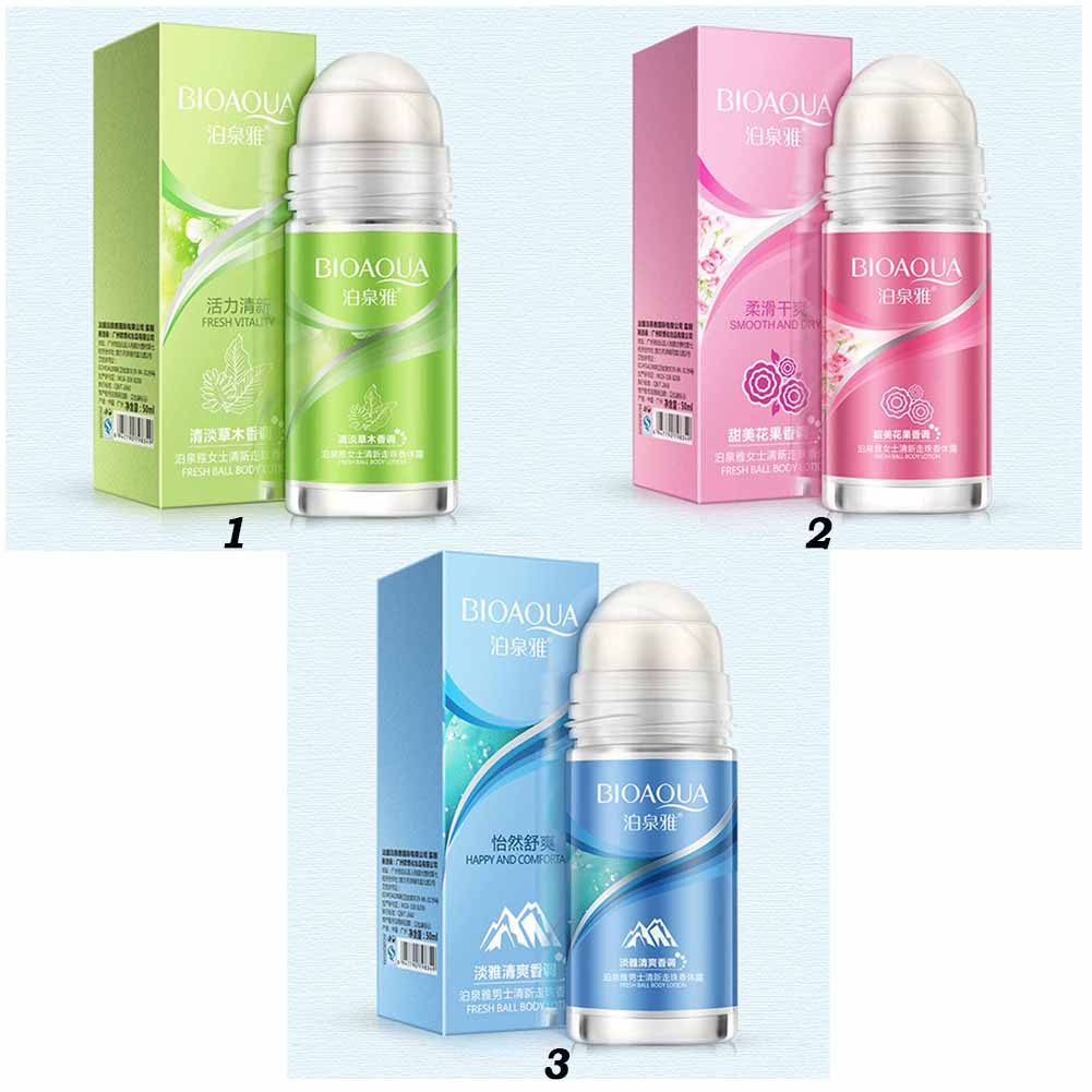 Ball Body Lotion Antiperspirants Underarm Deodorant Roller Bottle Fragrance Smooth Dry  Slimming Body Cream Perfumes 3