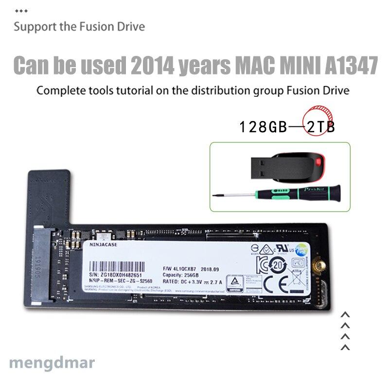 A1347 ssd 128GB 256GB 512GB für MAC Mini A1347 2014 festplatte Fügen Sie eine zweite solid state stick