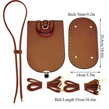 Nowe ręcznie robione torebka na ramię pasek pleciona torba zestaw skórzana torba spodnie i spódnice z akcesoria sprzętowe do DIY torba plecak 5 sztuk zestaw tanie tanio Skóra 450g YJ33604 Lekki organizatorzy