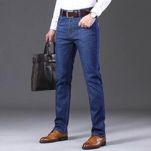 Image 3 - Jantour Inverno Termico Flanella Caldo di Stirata Dei Jeans del Mens di Marca di Alta Qualità Pantaloni In Pile da uomo Dritto Pantaloni affollano jean 40 42 44