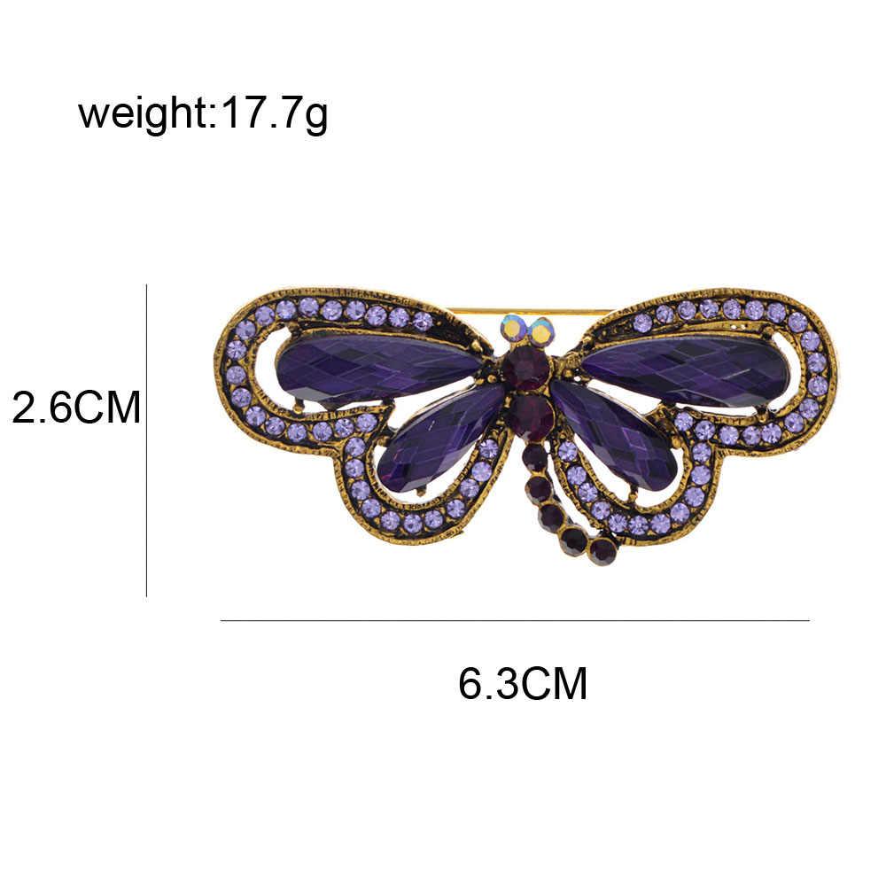 CINDY XIANGสีม่วงเรซิ่นDRAGONFLY Broochesสำหรับผู้หญิงVINTAGE BoutonnieresแมลงPINแฟชั่นเครื่องประดับCoatเข็มกลัดของขวัญ