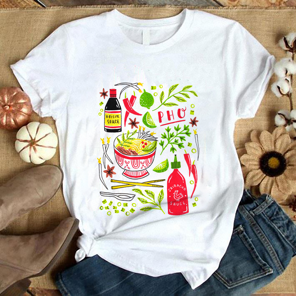 Vietnamese Pho Soup Sriracha Tshirt Funny Have Pho Aesthetic Art Shirt Harajuku Style Summer Top Tees 100% Cotton(China)
