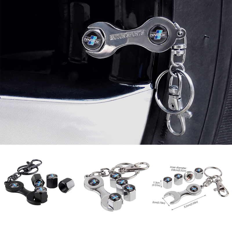 Car Styling Wheel Tire <font><b>Valve</b></font> <font><b>Caps</b></font> With Keychain For <font><b>BMW</b></font> HARTGE E46 E39 E90 E60 F10 F30 E36 F20 X1 X3 X5 X6 M3 M5 E92 F80 E70 E53 image