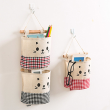 Cute Hanging Organizer Wall Decor Connectable Cosmetic Sundries Storage Pockets Fabric Linen Storage Bag fulllove 12 pockets 32 72cm linen storage bag number print navy hanging organizer for cosmetic books home storage