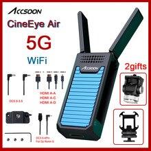 Accsoon CineEye 공기 5G WIFI 무선 송신기 아이폰 Andriod 전화 비디오 1080P 미니 HDMI 전송 장치 CineEyeAir