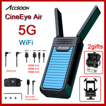 Accsoon cineeye ar 5g wi fi transmissor sem fio para iphone andriod telefone vídeo 1080 p mini dispositivo de transmissão hdmi cineyeair