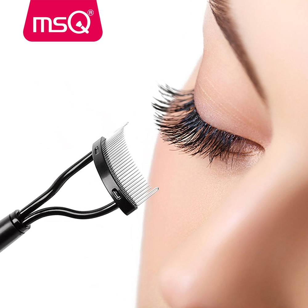 MSQ 1PCS Make Up Mascara Guide Applicator Eyelash Comb Eyebrow Brush Curler Beauty Essential Eye Makeup Tools