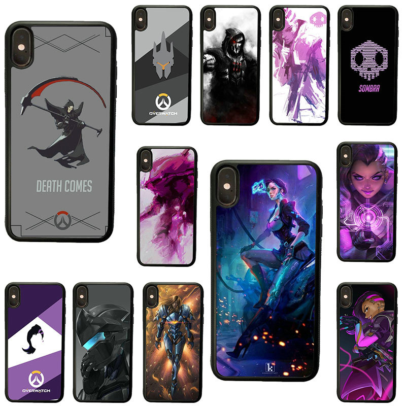 Games Overwatch Ow Ana Cell Phone Case Hard Plastic Cover Protect for iphone 8 7 6 6S Plus X XR XS 11 Pro Max 5S 5 SE 4 4S Shell image