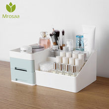 Large Capacity Cosmetic Storage Box Drawer Makeup Dressing Table Skin Care Rack House Organizer Container Lipstick Case Sundries(China)