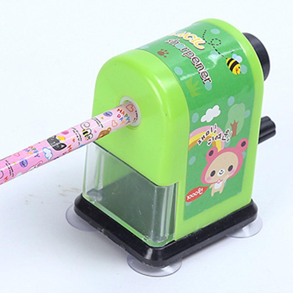 Kids Hand Held Manual Pencil Sharpener Cute Cartoon Sharpener School Supplies Stationery For Children