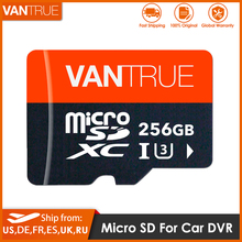 The Vantrue 128G 256G U3 V30 Class 10 4K UHD ความเร็วสูง TF SD Card ออกแบบสำหรับรถ Dash Cam GPS นำทาง