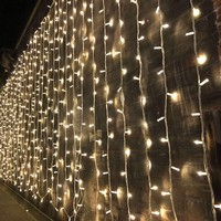 3/6/9Mx3M LED Curtain Lights Window Garland Home Decoration Fairy String Lights for Wedding Christmas Birthday Party 220V Plug