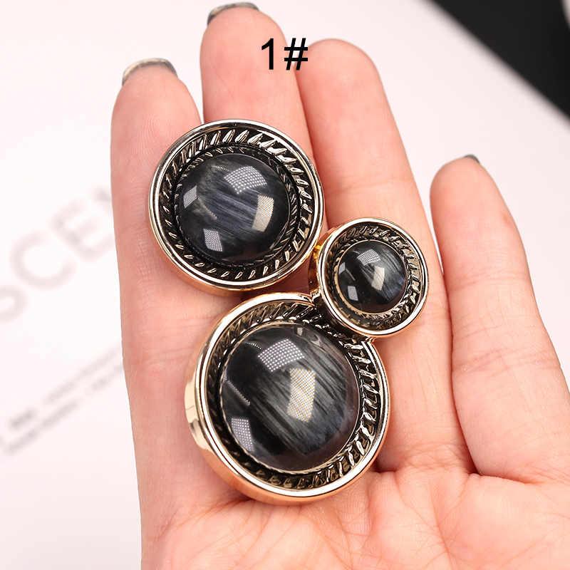 Botón de abrigo de moda perla para ropa de mujer botones de traje de plástico mujeres ropa hebilla Retro accesorios decorativos de costura CC