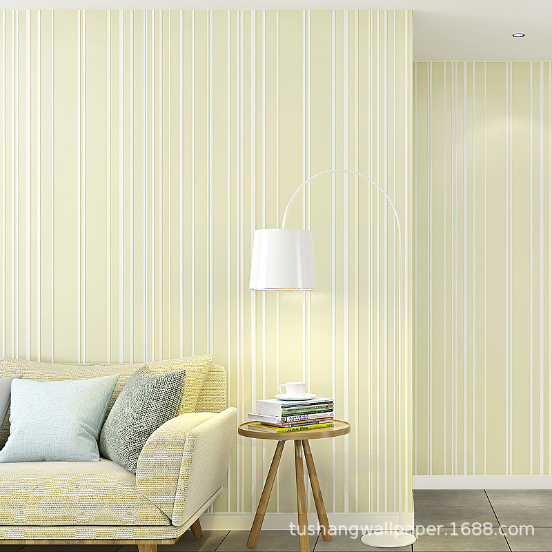 Modern Minimalist Stripes Wallpaper Bedroom 3D Non-woven Wallpaper Living Room Television Background Wall Film And Television Wa