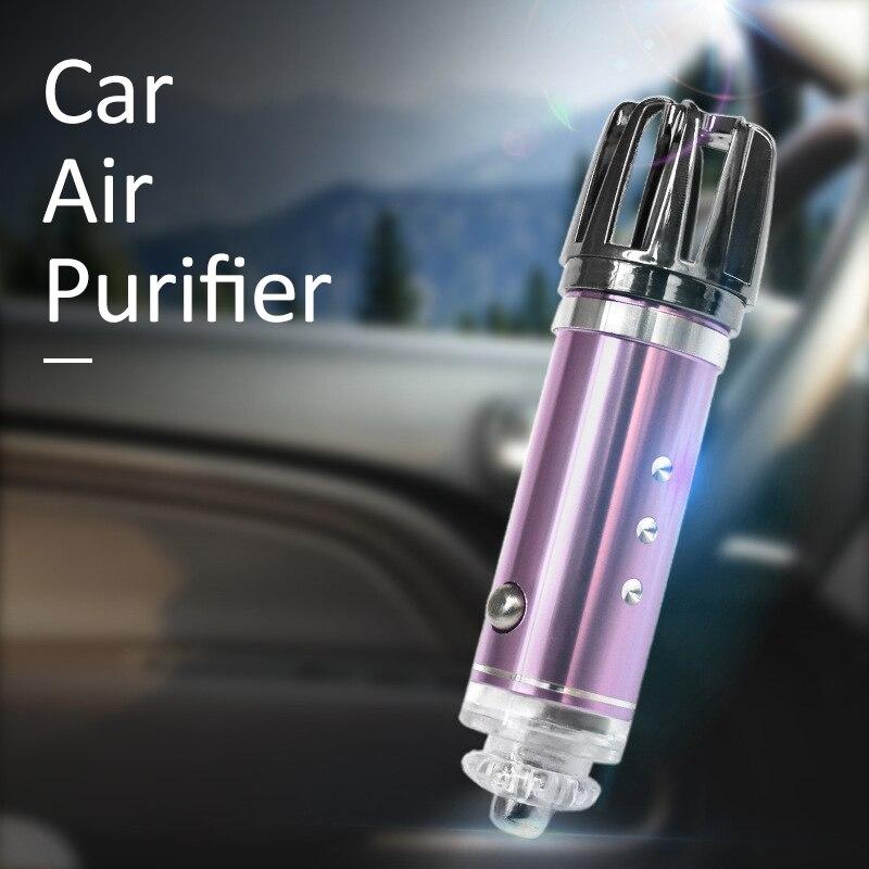 Car Air Purifier Mini 12v Auto Car Fresh Air anion Ionic Purifier Oxygen Bar Ozone Ionizer cleaner Vehicle Air Freshener