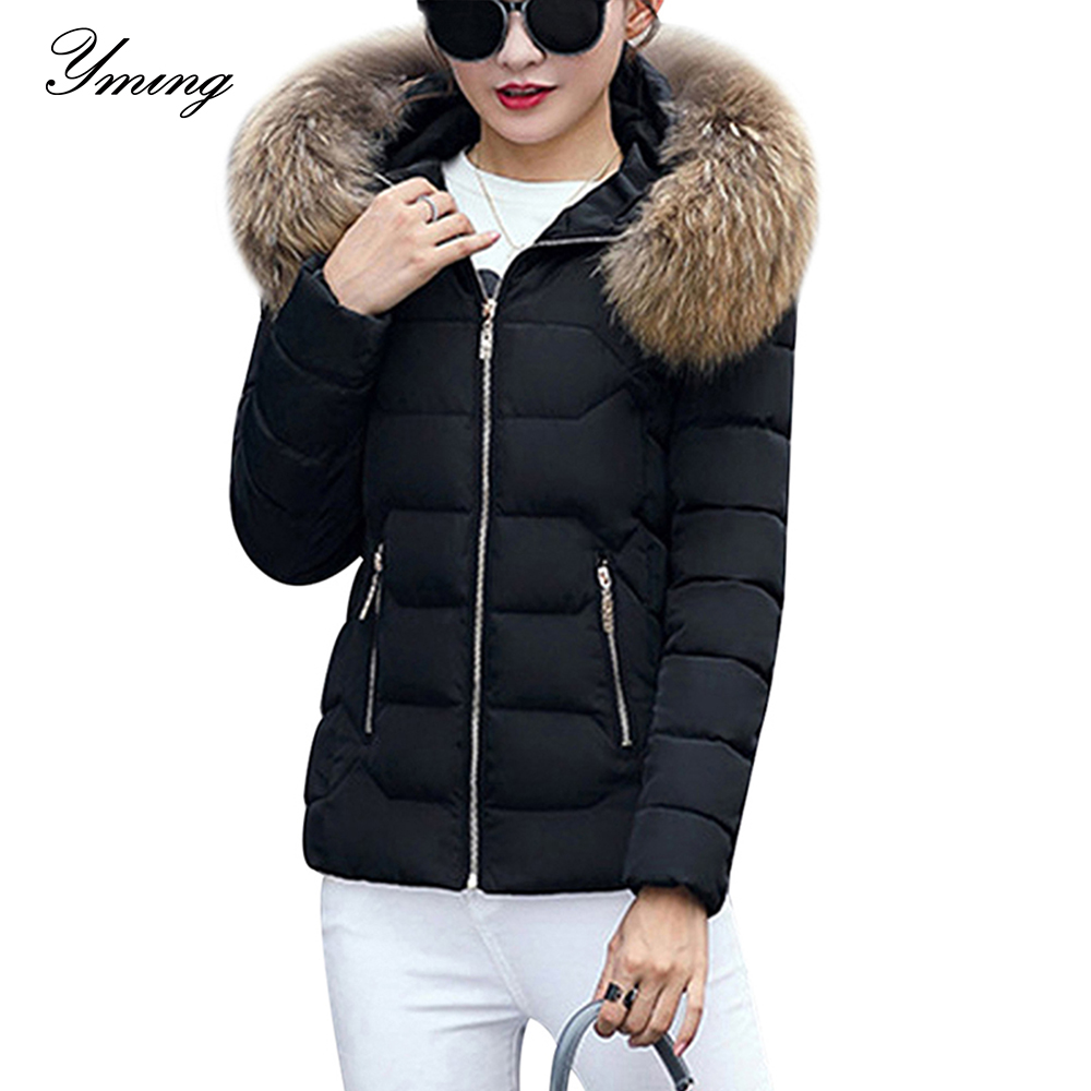 Winter Down Jackets Women Fashion Warm Coat Cotton Thickening  Parka Fur Collar Jackets with Hooded Detachable Cap Winter  ClothesParkas