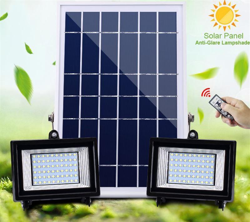 10PCS 30led 60led 80led 100led Solar Power LED Flood Light Solar Panel Outdoor Spotlight Solar Floodlight Remote Control