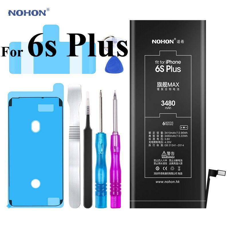 Original Nohon Battery For Apple iPhone 6s Plus 3480mAh 6sPlus 6sP 3.8V Replacement  Batteries Max Capacity 3410mAh Bateria Tools Mobile Phone Batteries  -  AliExpress