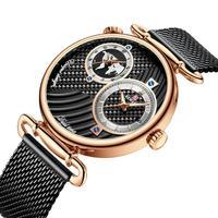 Rosa de ouro luxo estilo negócios relógio masculino moda charme marca relógio à prova dwaterproof água zegarek meski|Relógios de quartzo| |  -