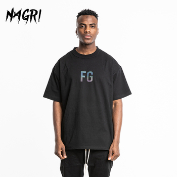 NAGRI T-shirts Man Shirt Cotton Print Letter FG Hip Hop Men's Clothing Couple Loose Short Sleeve Fashion Tees - discount item  45% OFF Tops & Tees