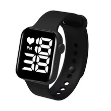 Sport Digital Watch Women Men Square Led Watch Silicone Electronic Watch Women's Watches Clock Fitness Wristwatch Kids Hours