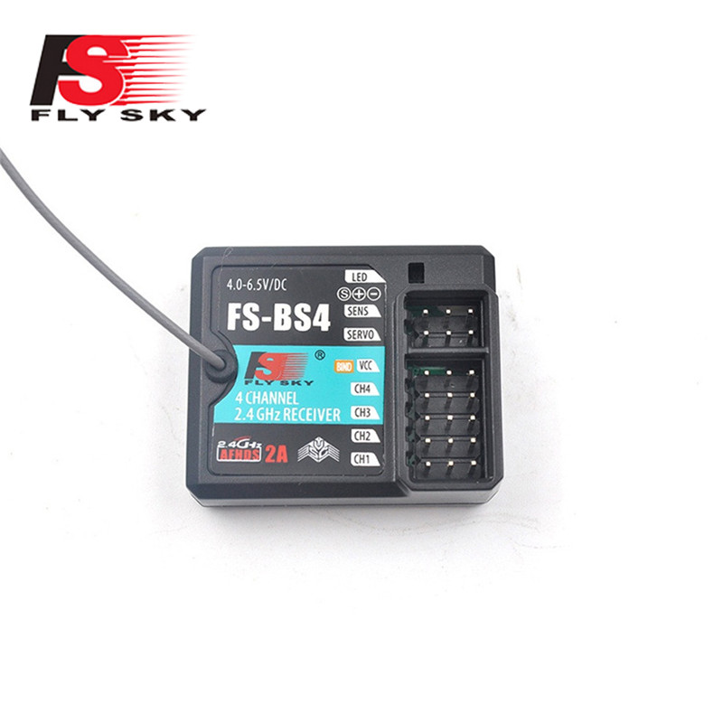 FlySky FS BS4 2.4GHz 4CH ASHDS 2A PWM/PPM/I.bus/S.bus Output RC Receiver for RC Car Boat RC Quadcopter w/ Gyroscope Function image