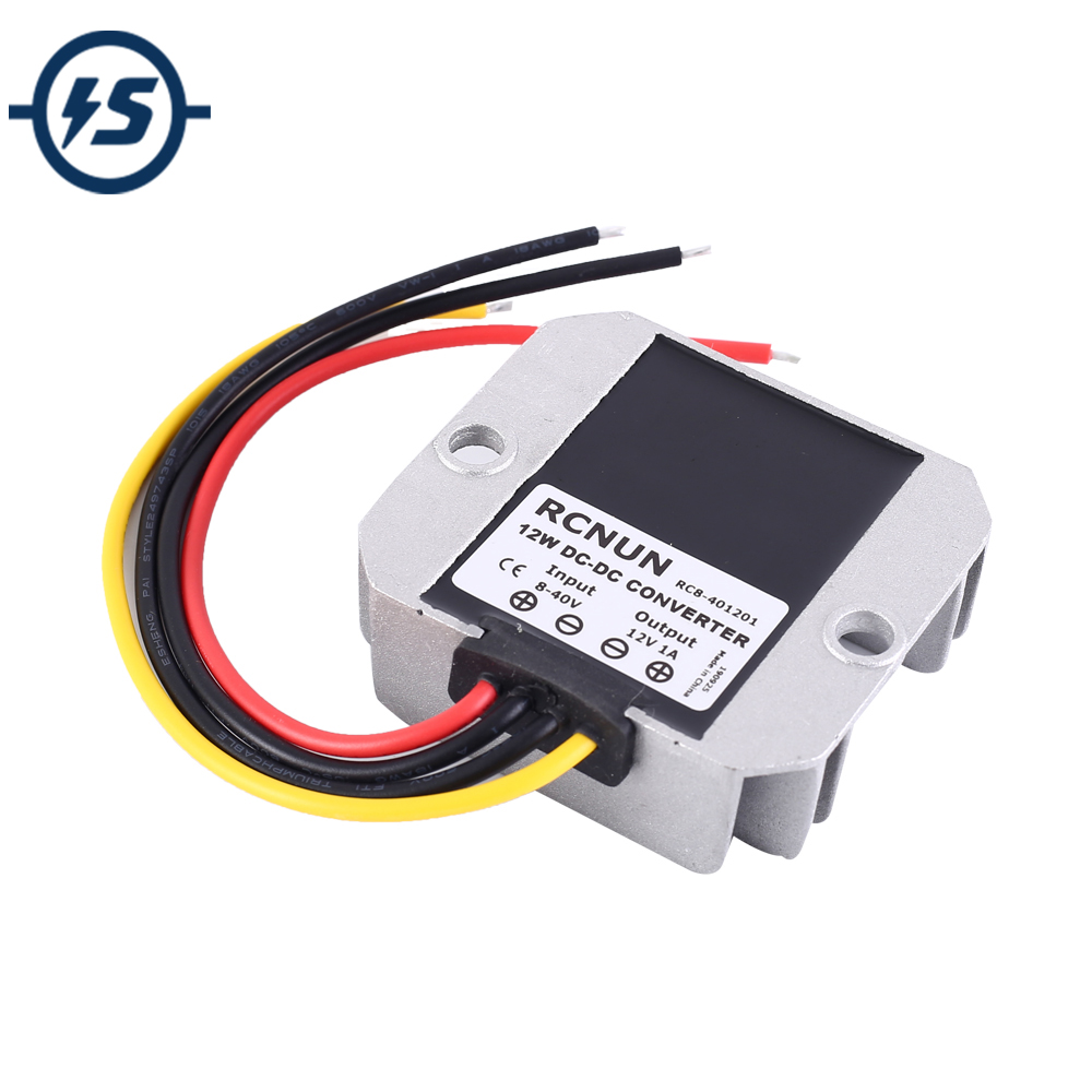 DC-DC Step UP Down Power Supply Module 9V/12V/24V/36V to 12V 1A Boost Buck Voltage Converter for Driving Recorder Waterproof