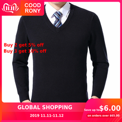 COODRONY Sweater Men Clothes 2019 Autumn Winter Cashmere Wool Pullover Sweaters Plus Size Business Casual V-Neck Pull Homme 8128 1