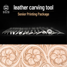 SOZO Professional printing package Leather Work Stamping Tool Saddle make Carving Pattern 304 Stainless streel Stamps 10/16/21