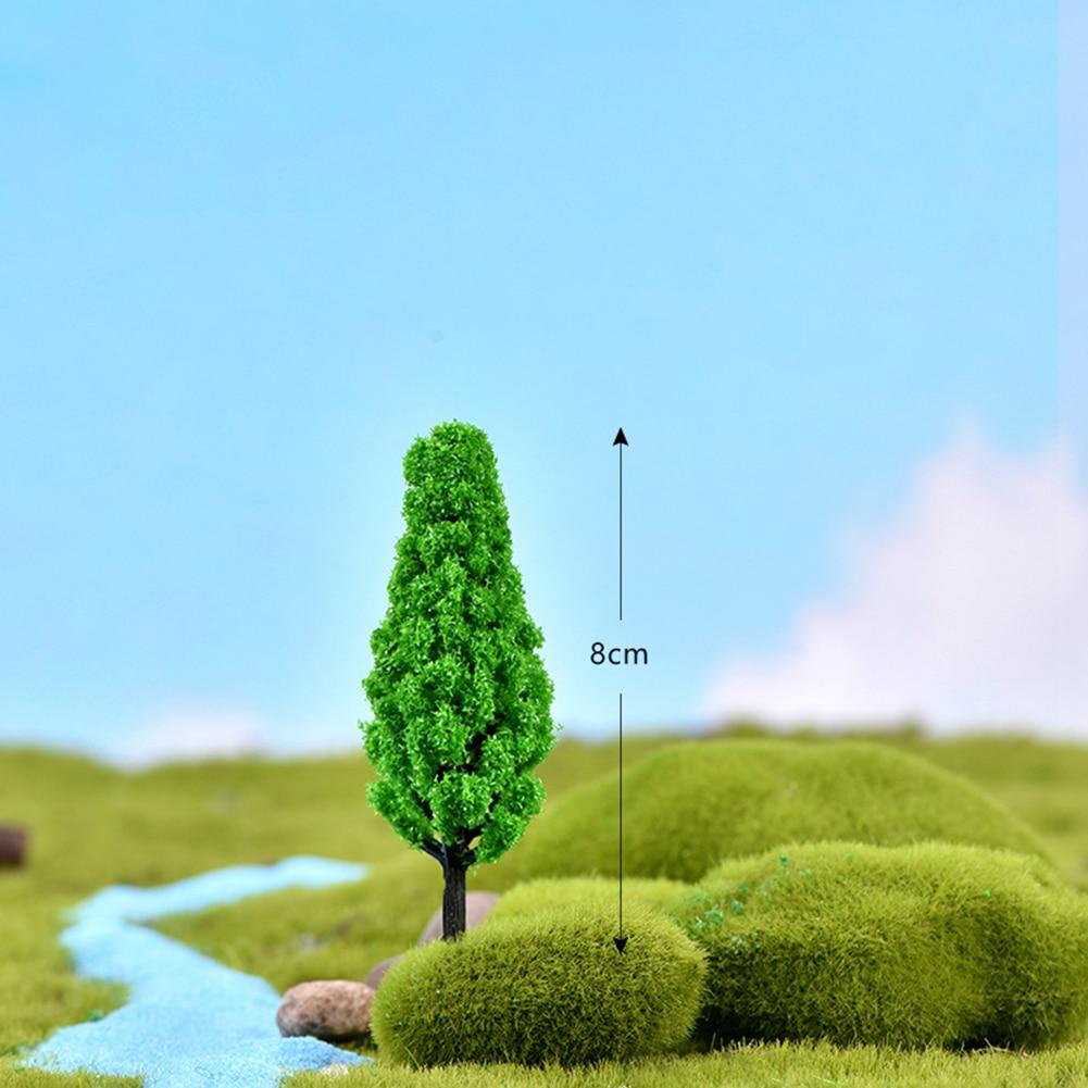 2pcs Dollhouse Garden Micro Landscape Mini Bush Trees Green Sand table model Toy